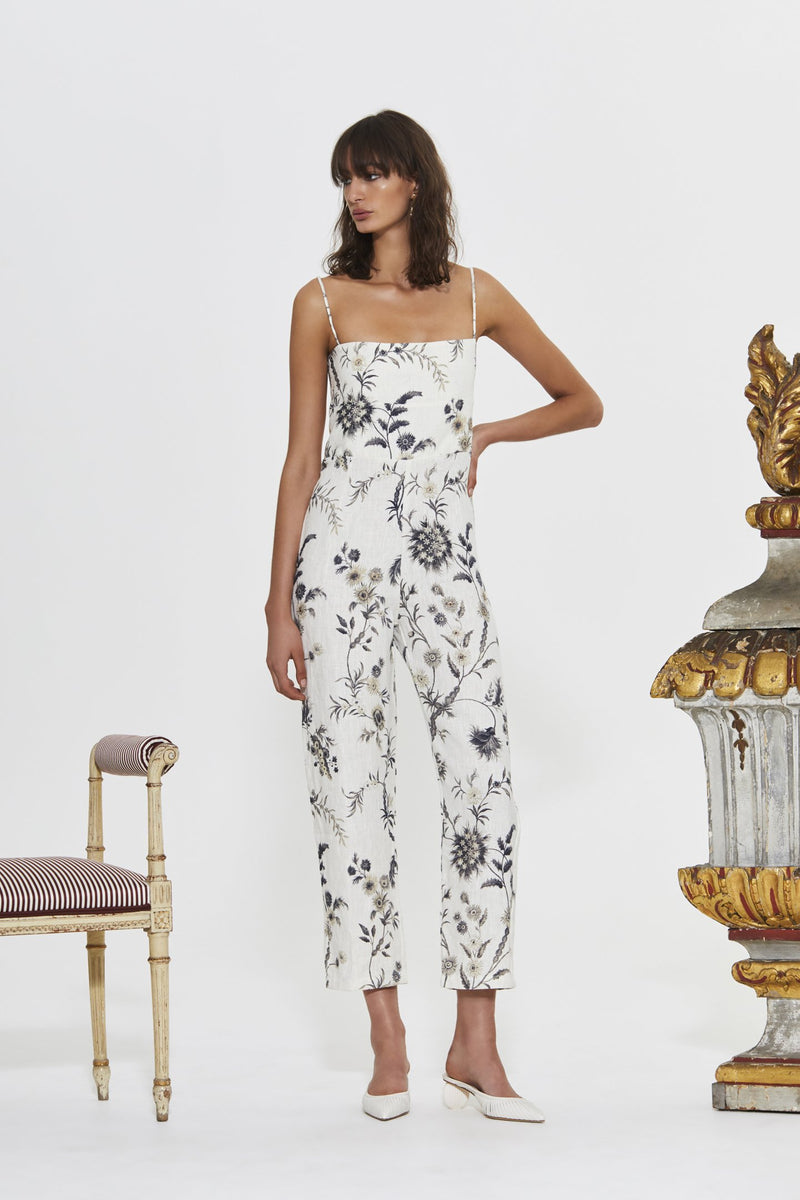 JAIMEE EMBELLISHED CROPPED JUMPSUIT