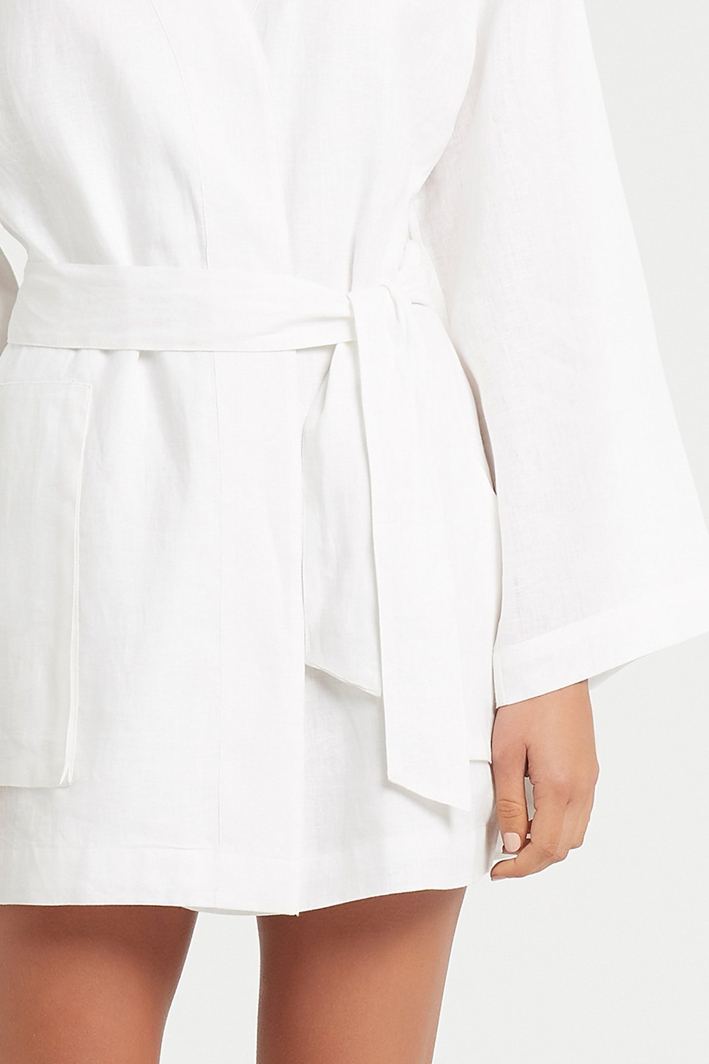 SIR the label ANOUK ROBE WHITE