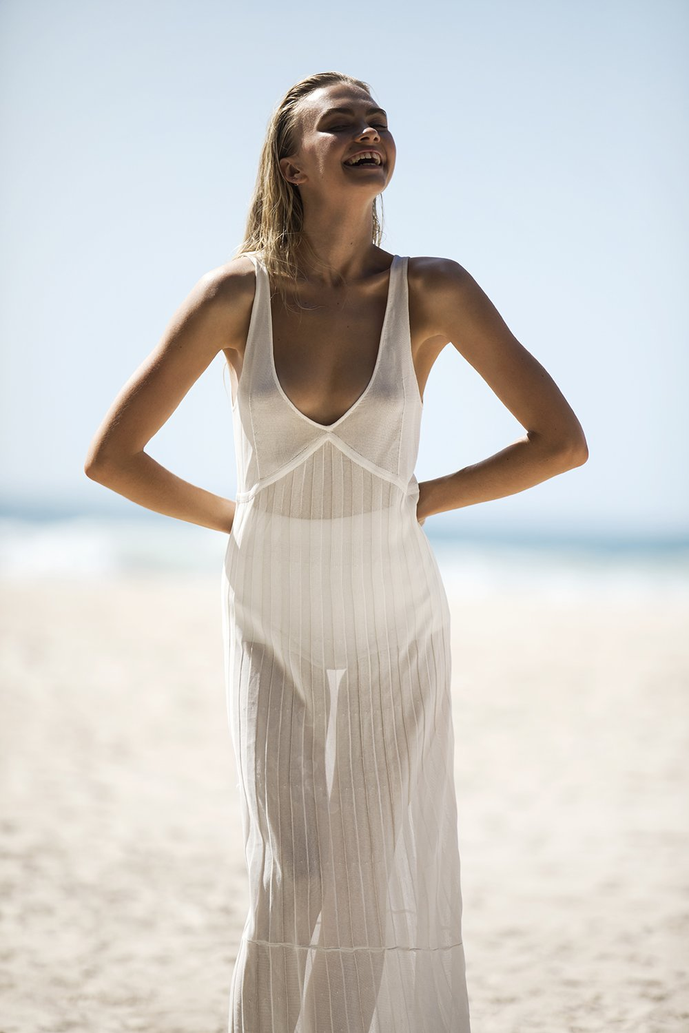 SIR the label AYA SLIP DRESS IVORY