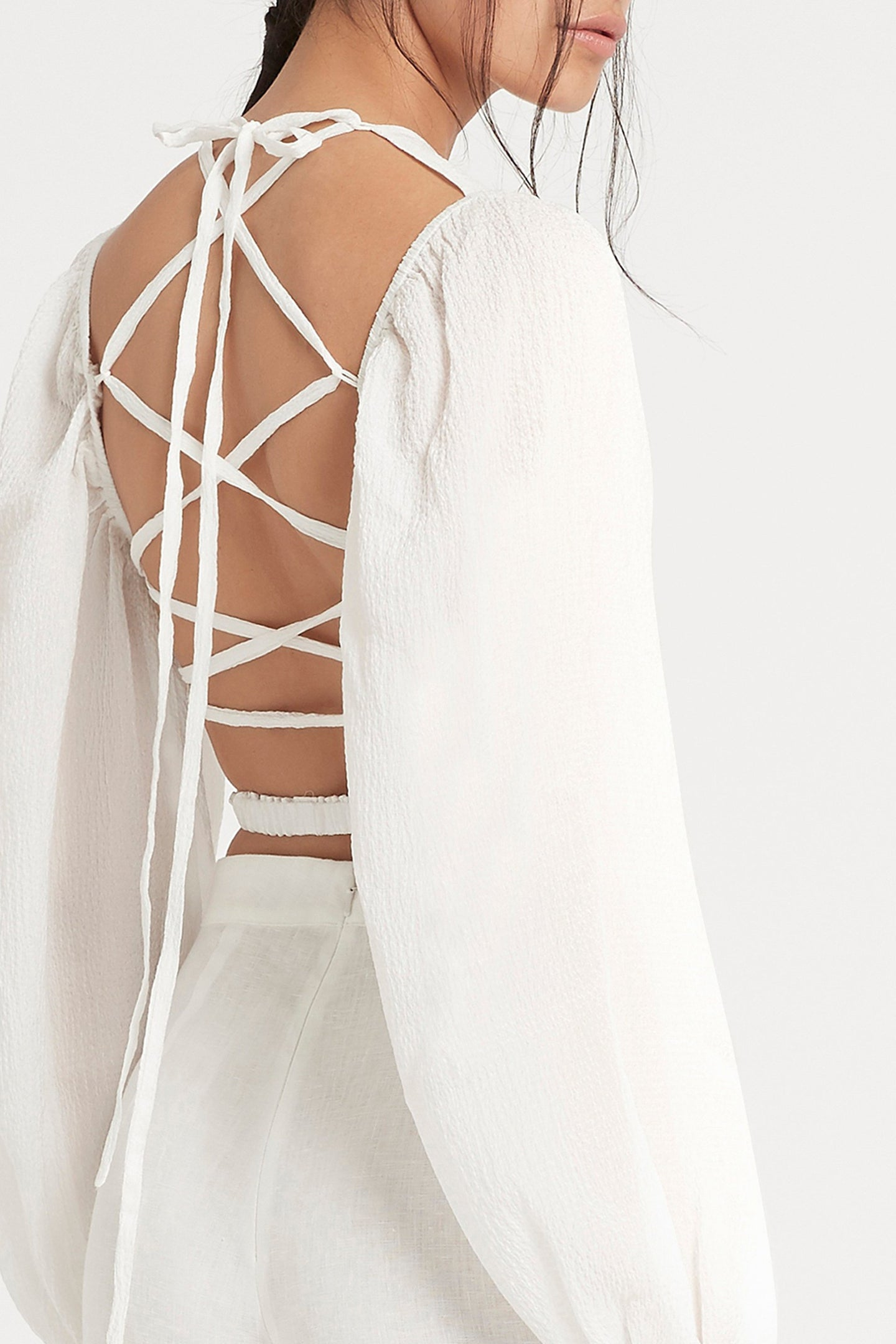 SIR the label INDRE LACED TOP WHITE