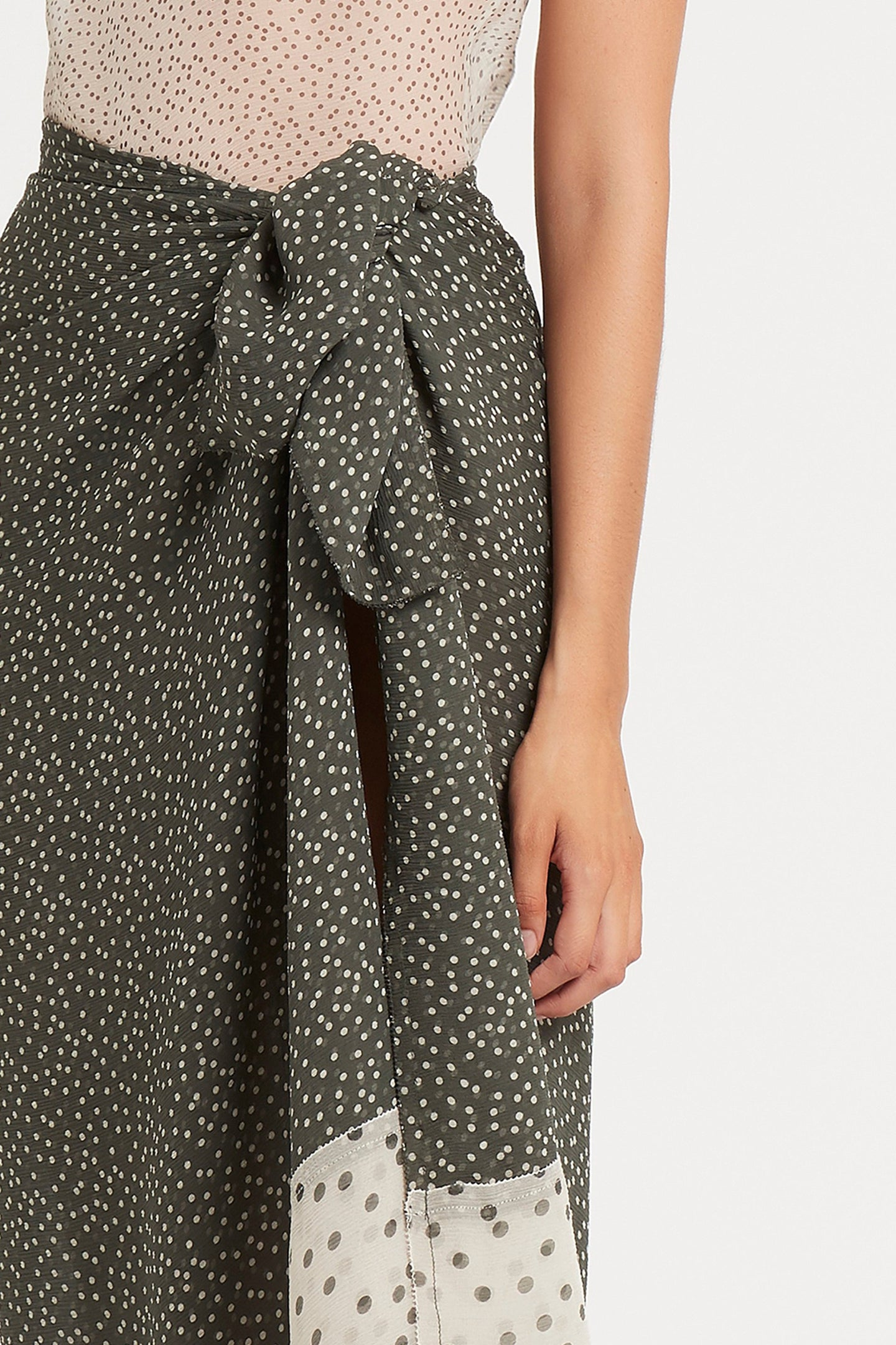 SIR the label ISABELLA SARONG OLIVE POLKA DOT