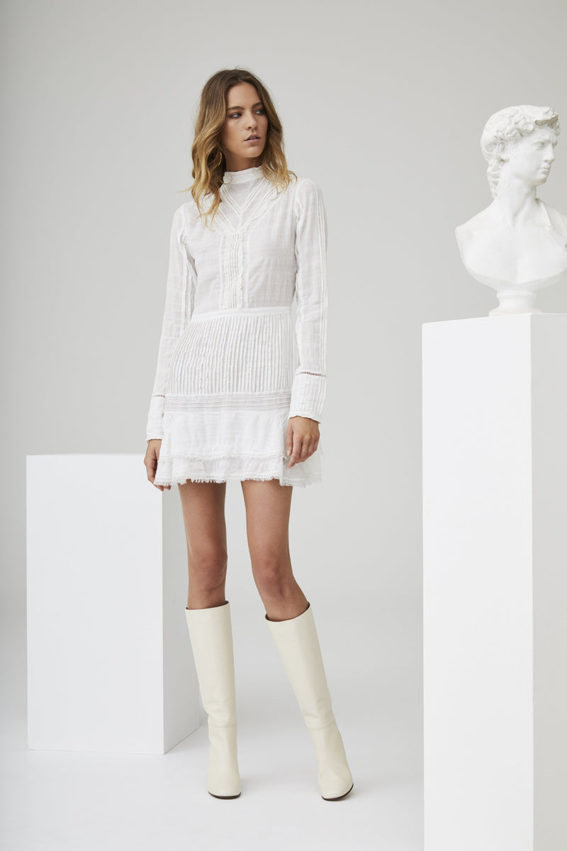 LUCILLE EMBROIDERED SHIFT DRESS