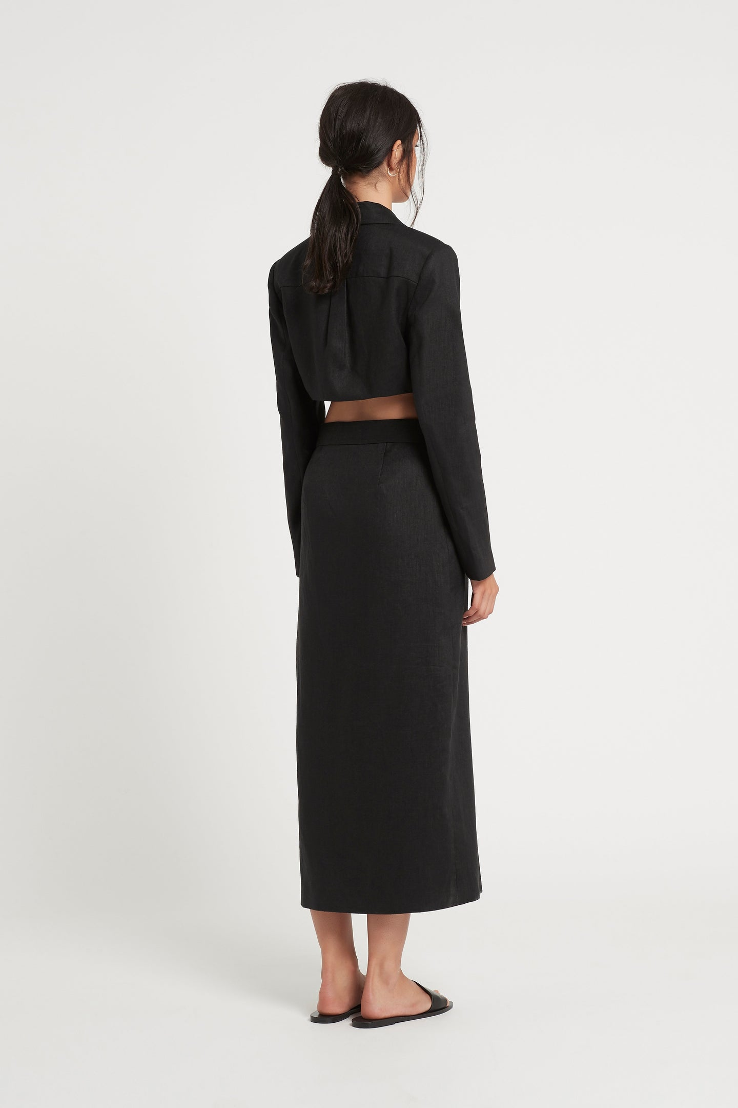 SIR the label PASCALE CUT OUT MIDI DRESS BLACK