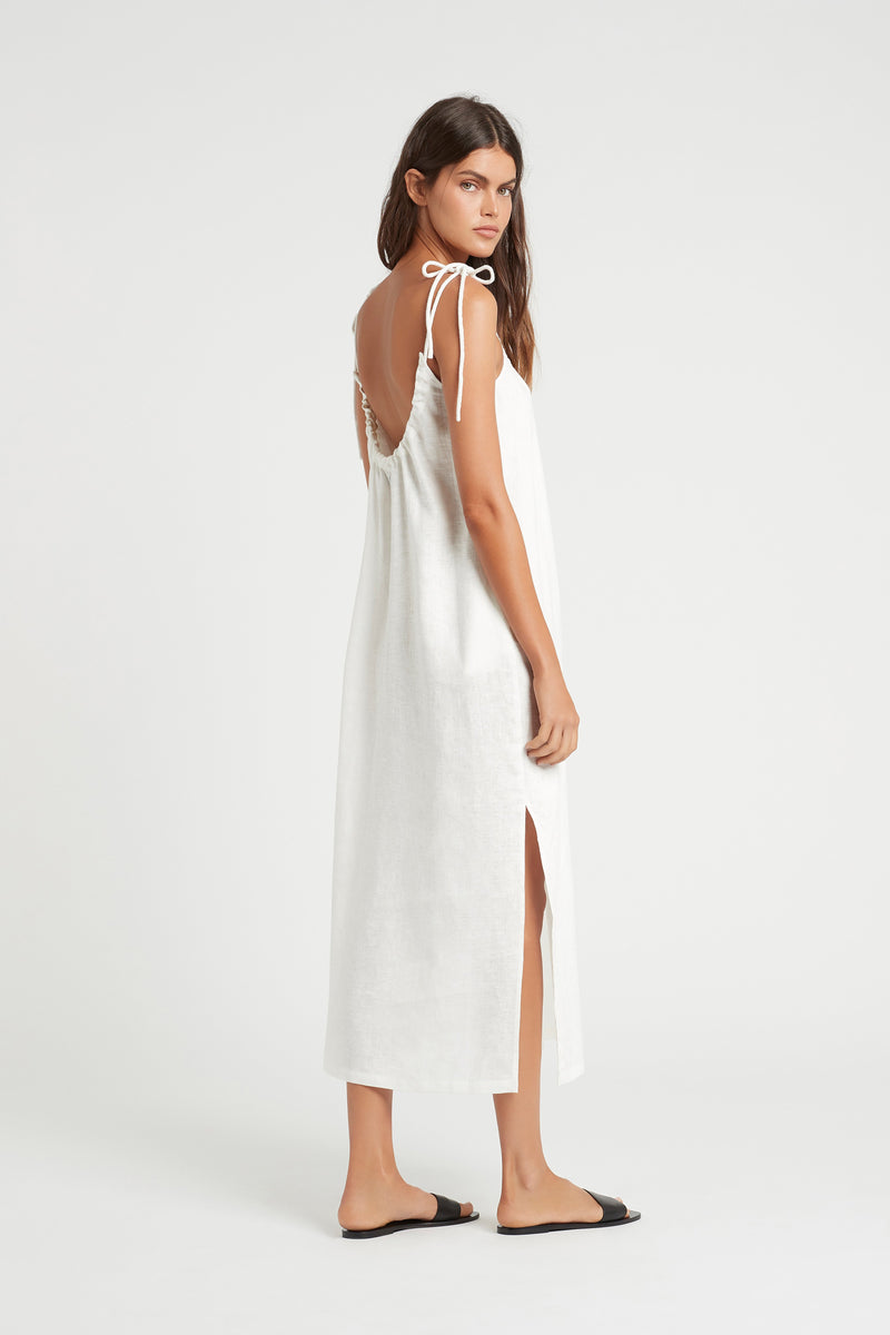 SIR the label LILA MIDI DRESS IVORY