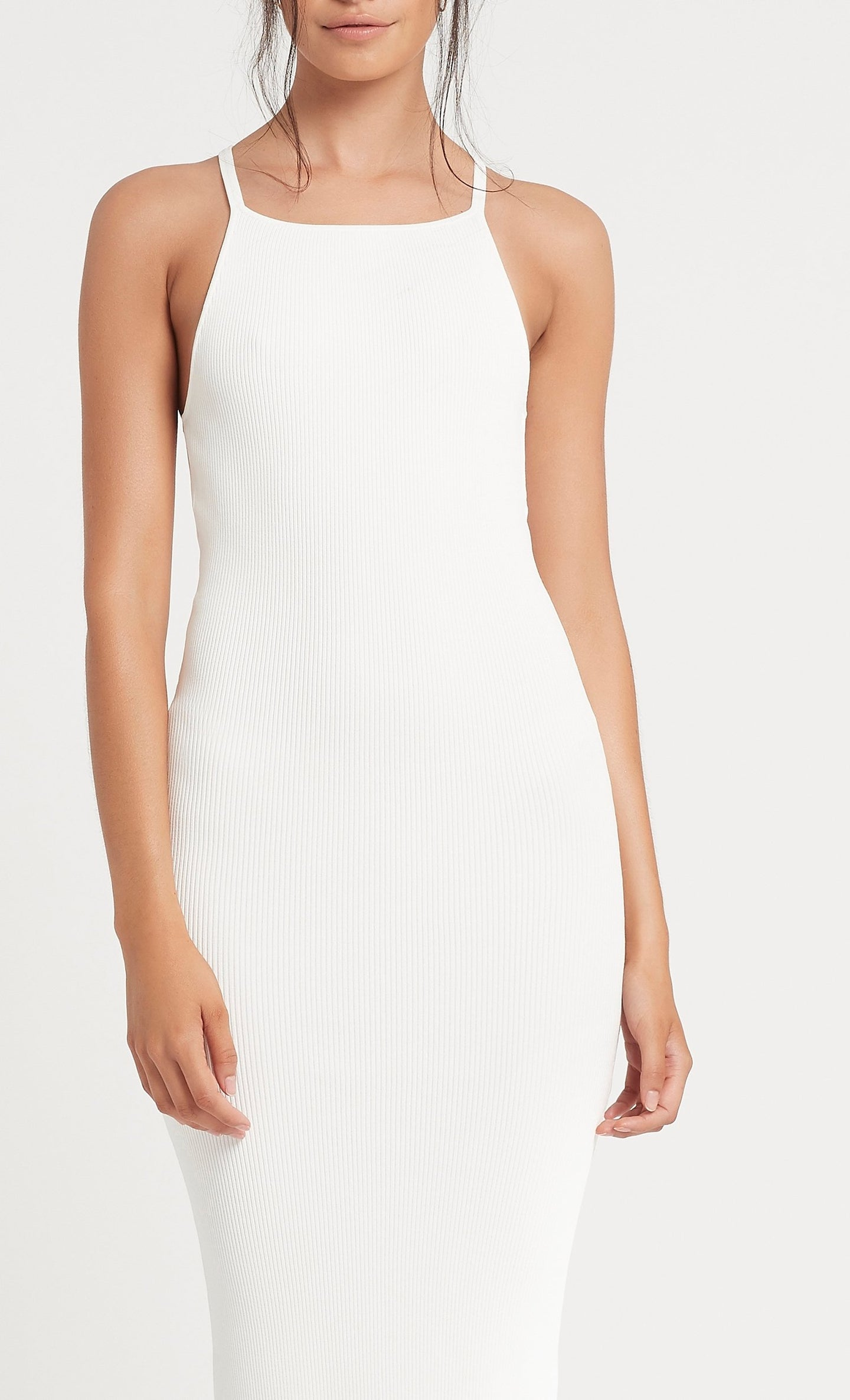 SIR the label INGRID MIDI DRESS IVORY