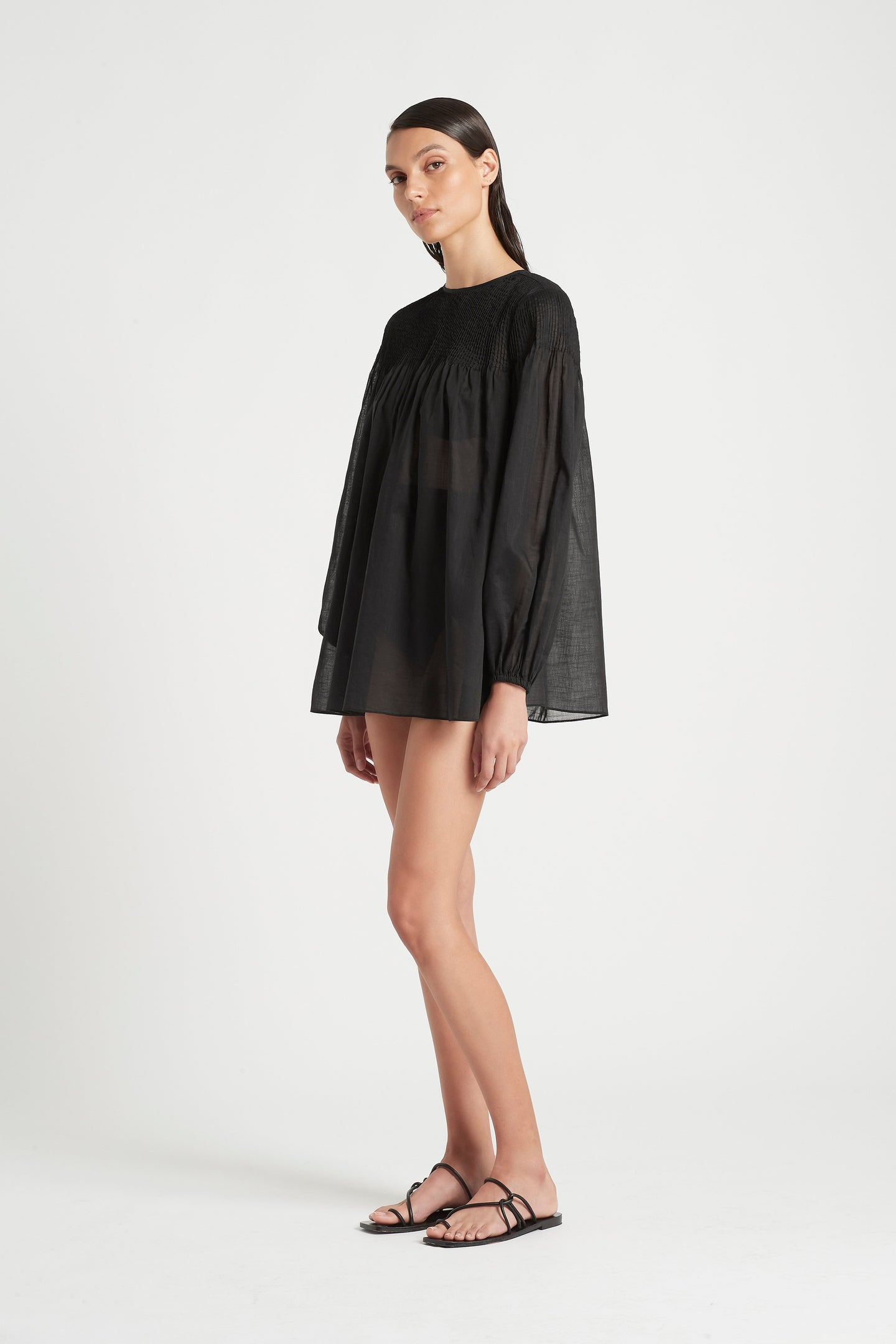 SIR the label ALINA TUNIC TOP BLACK