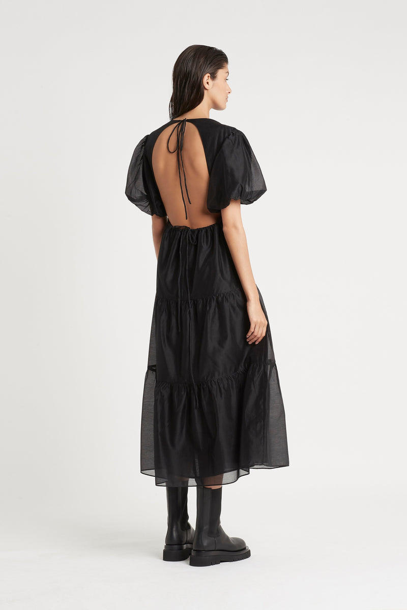 SIR the label AMERIE OPEN BACK DRESS BLACK