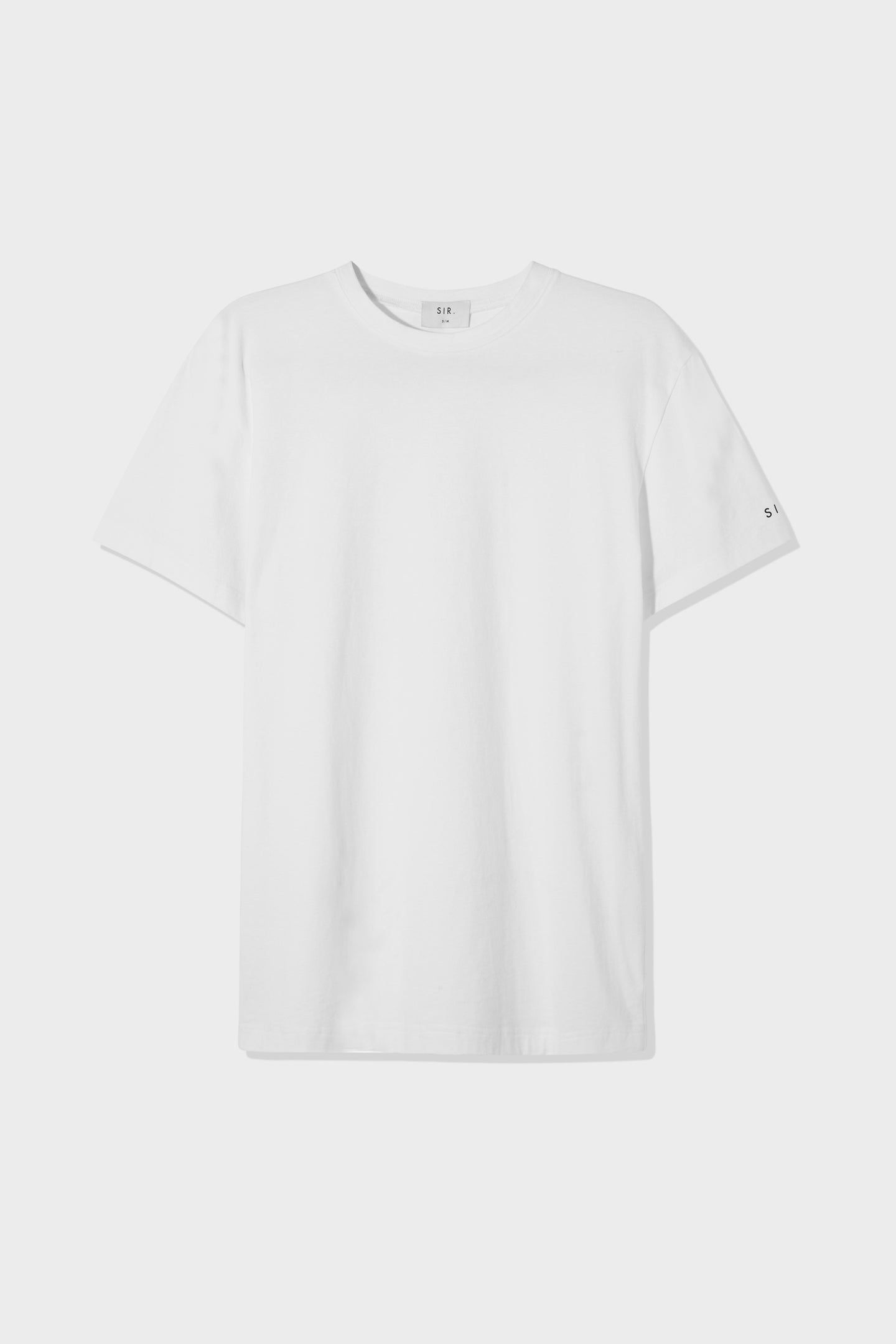 SIR the label UNISEX TEE WHITE