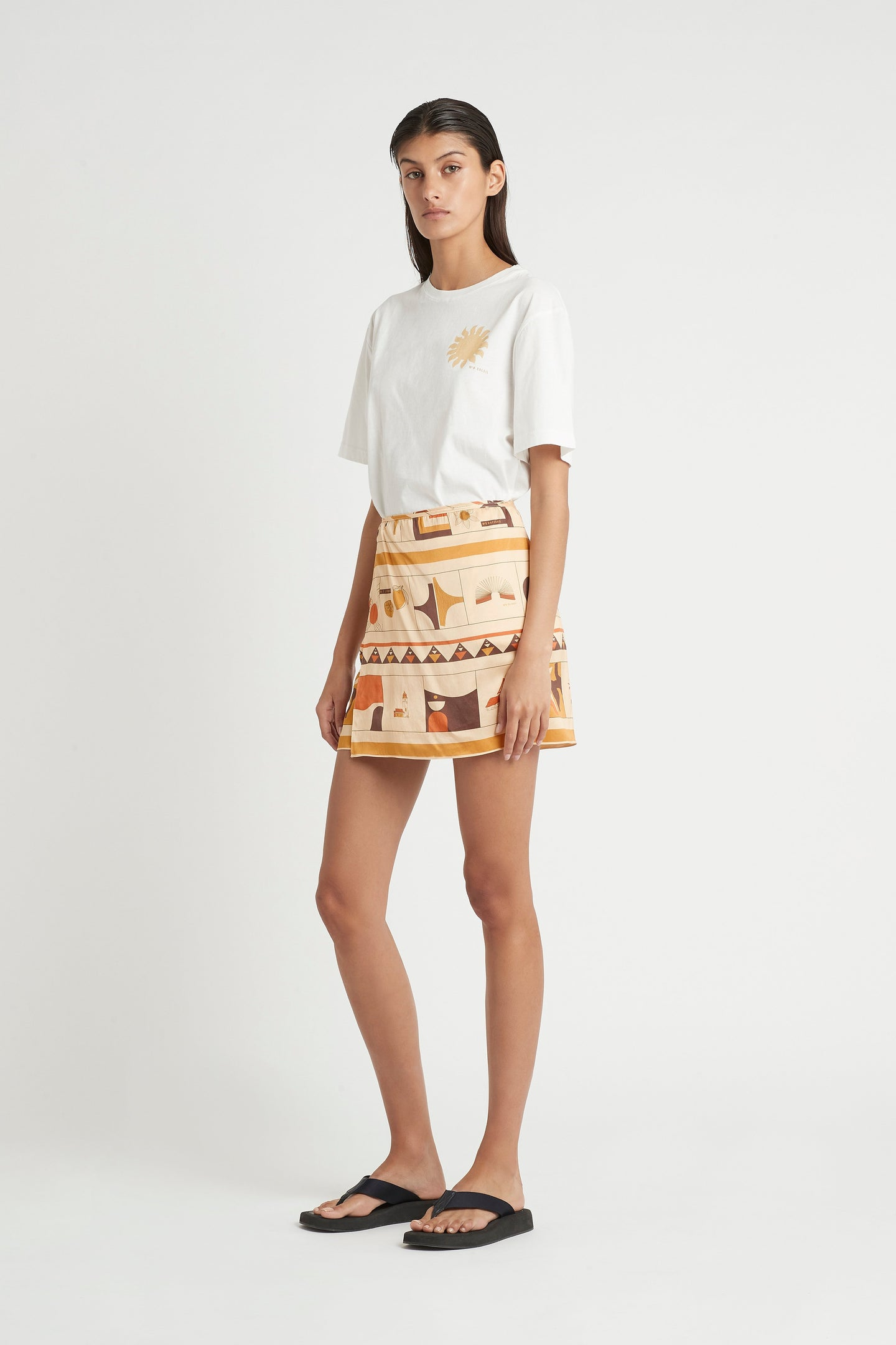 SIR the label SOLEIL WRAP MINI SKIRT SOLEIL PRINT