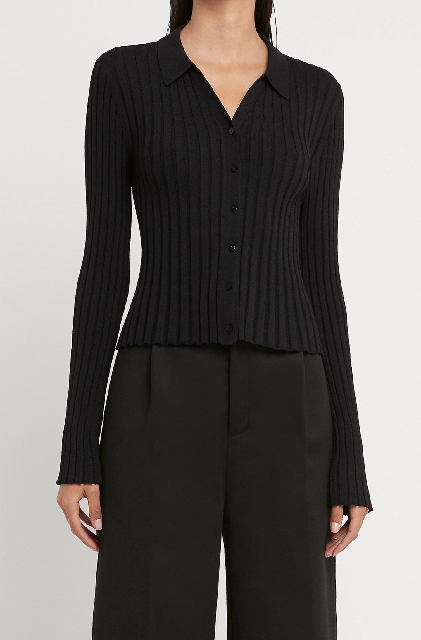 SIR the label LUCCA LONG SLEEVE TOP BLACK