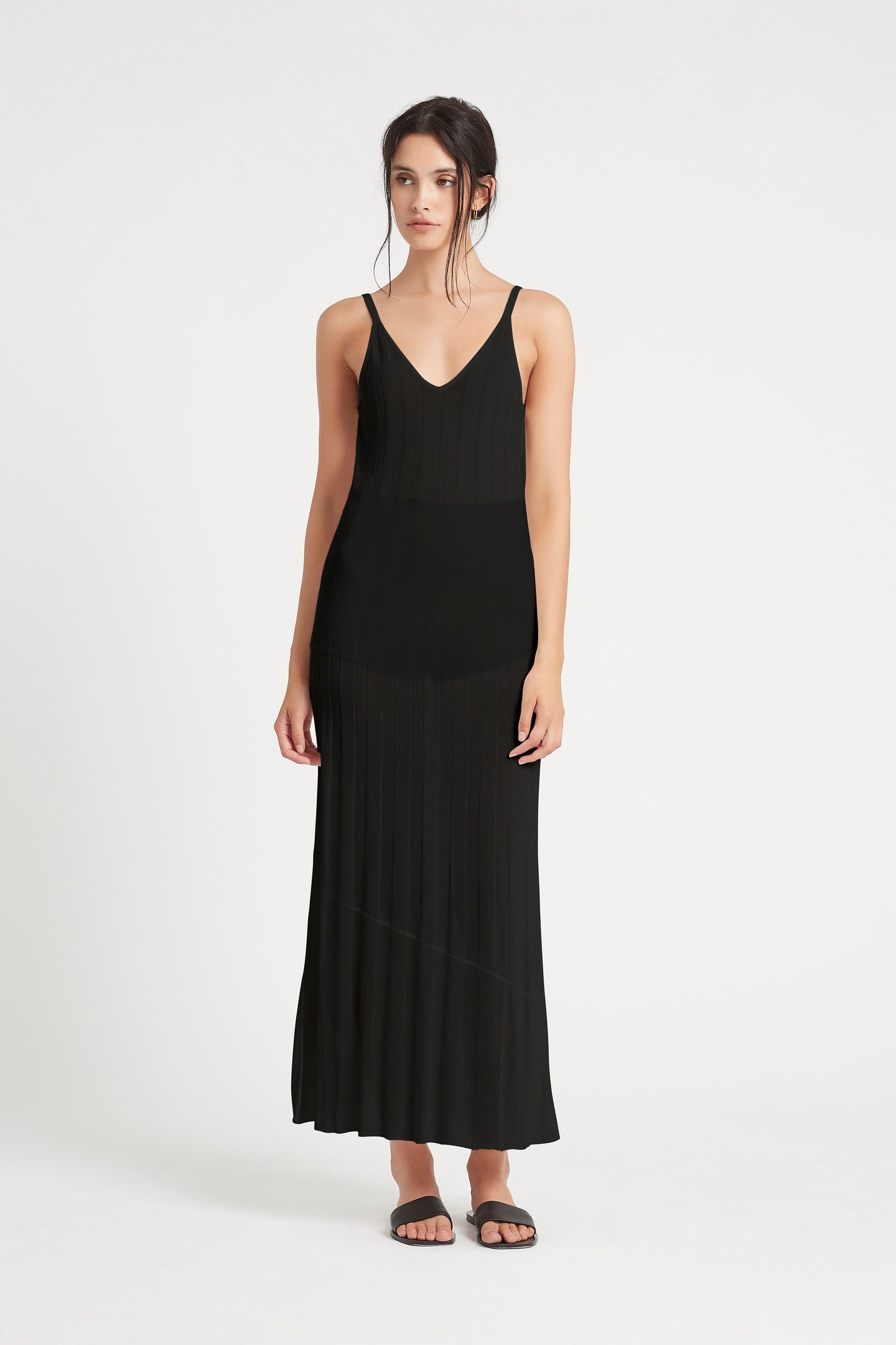 SIR the label VERA LOW BACK DRESS BLACK