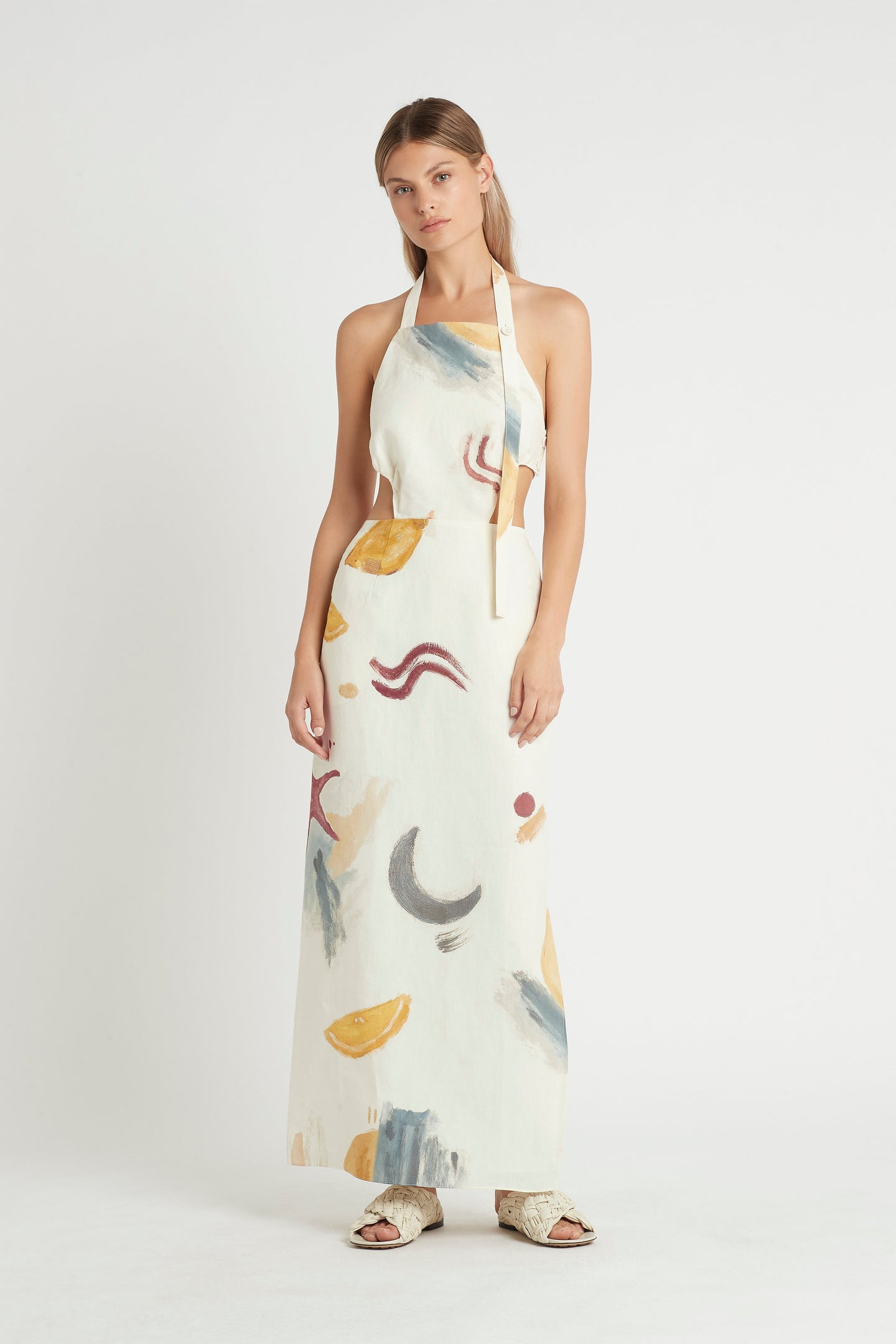 SIR the label MARTINE HALTER DRESS MARTINE PRINT