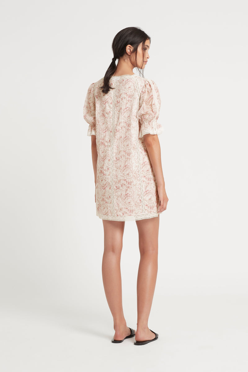 SIR the label CAPRICE PUFF SLEEVE MINI DRESS CAPRICE PRINT