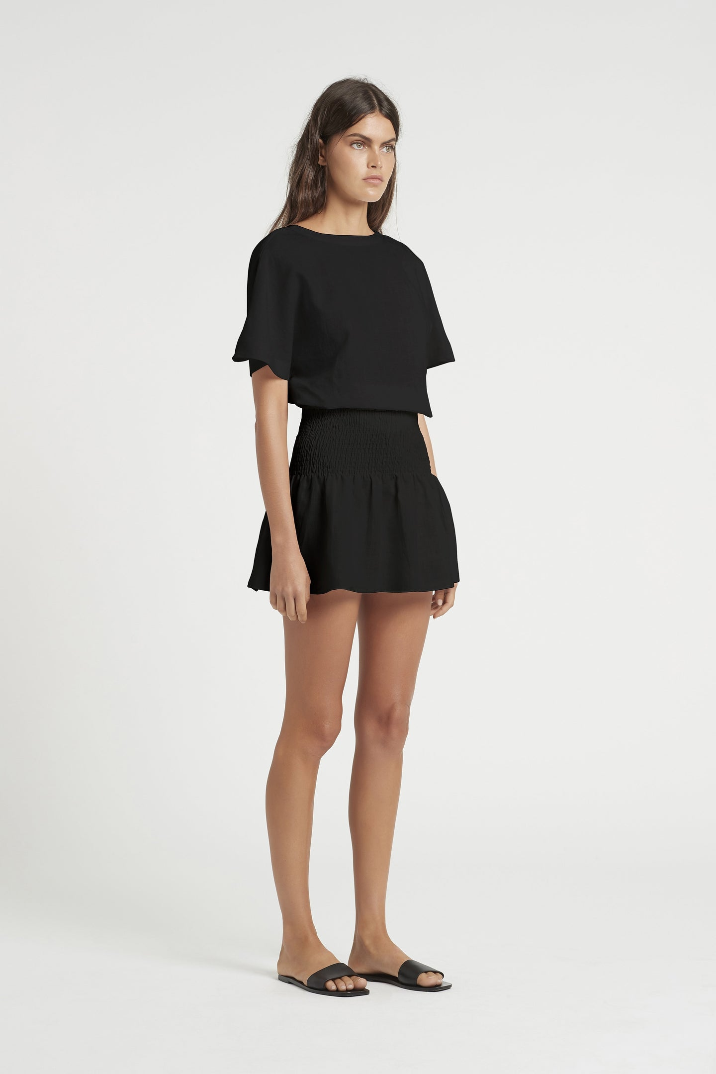 SIR the label BROOKE WRAP TOP BLACK