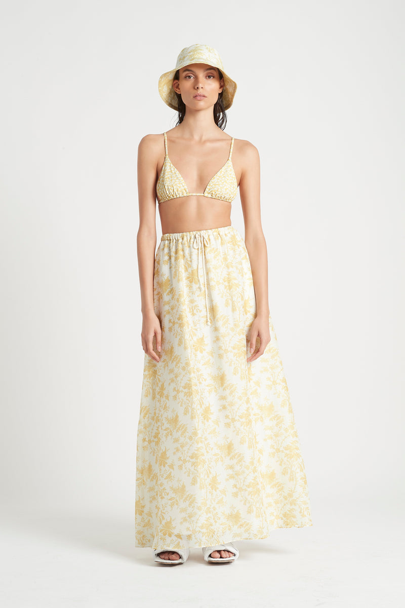 SIR the label ANAIS STRING TRIANGLE TOP YELLOW ANAIS PRINT