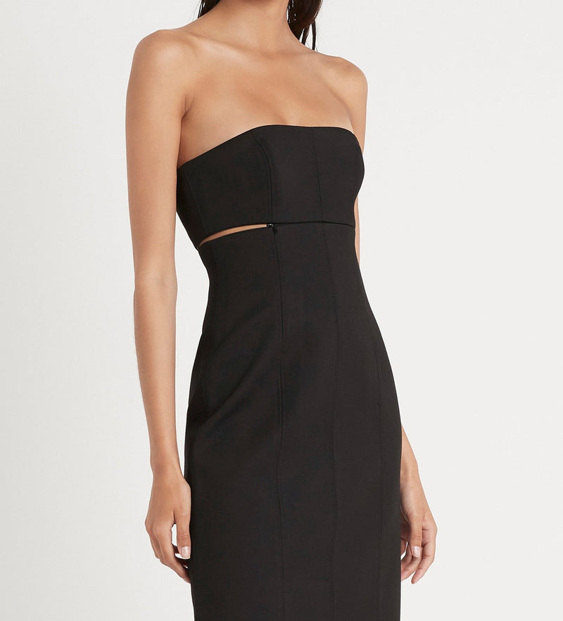ANDRE STRAPLESS MIDI DRESS