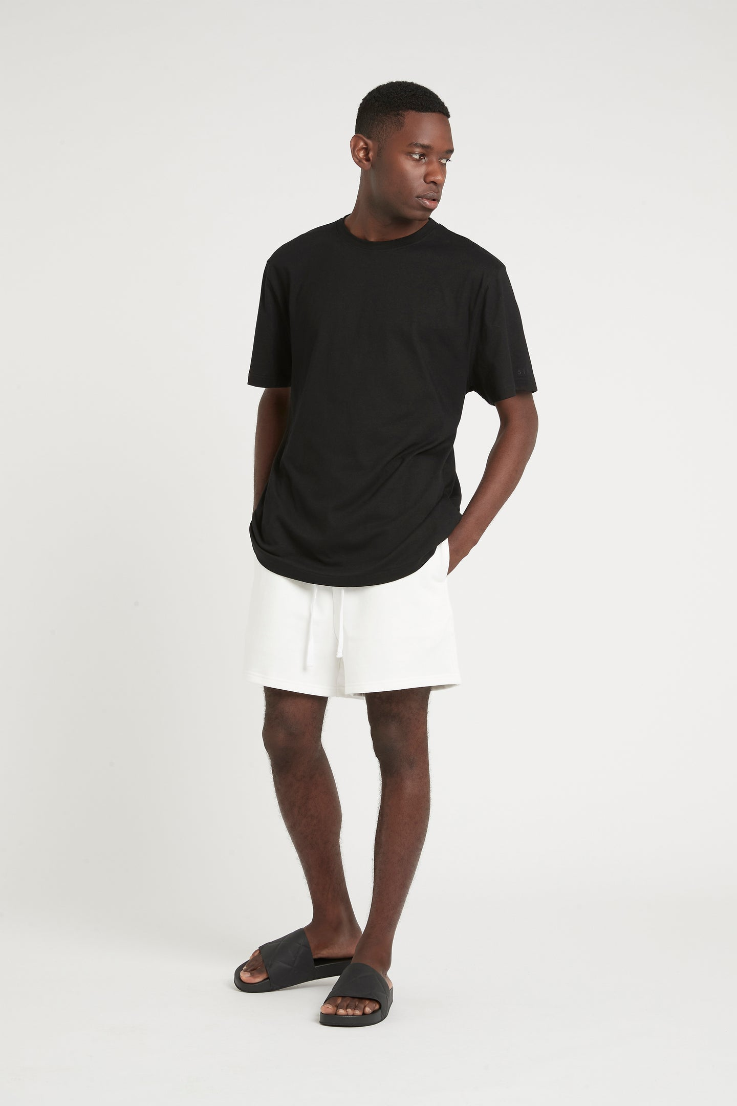 SIR the label MENS TRACK SHORT IVORY