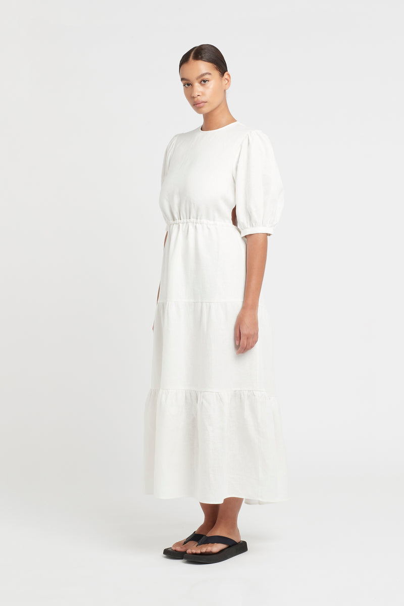 LORENA TIERED MIDI DRESS