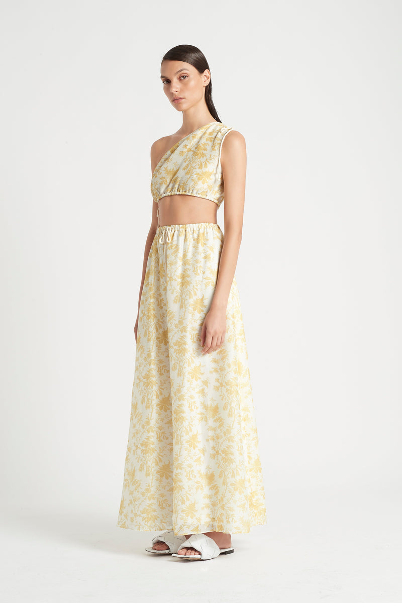 SIR the label CLEMENTINE MAXI SKIRT IVORY CLEMENTINE PRINT