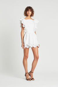 DELILAH RUFFLE MINI DRESS