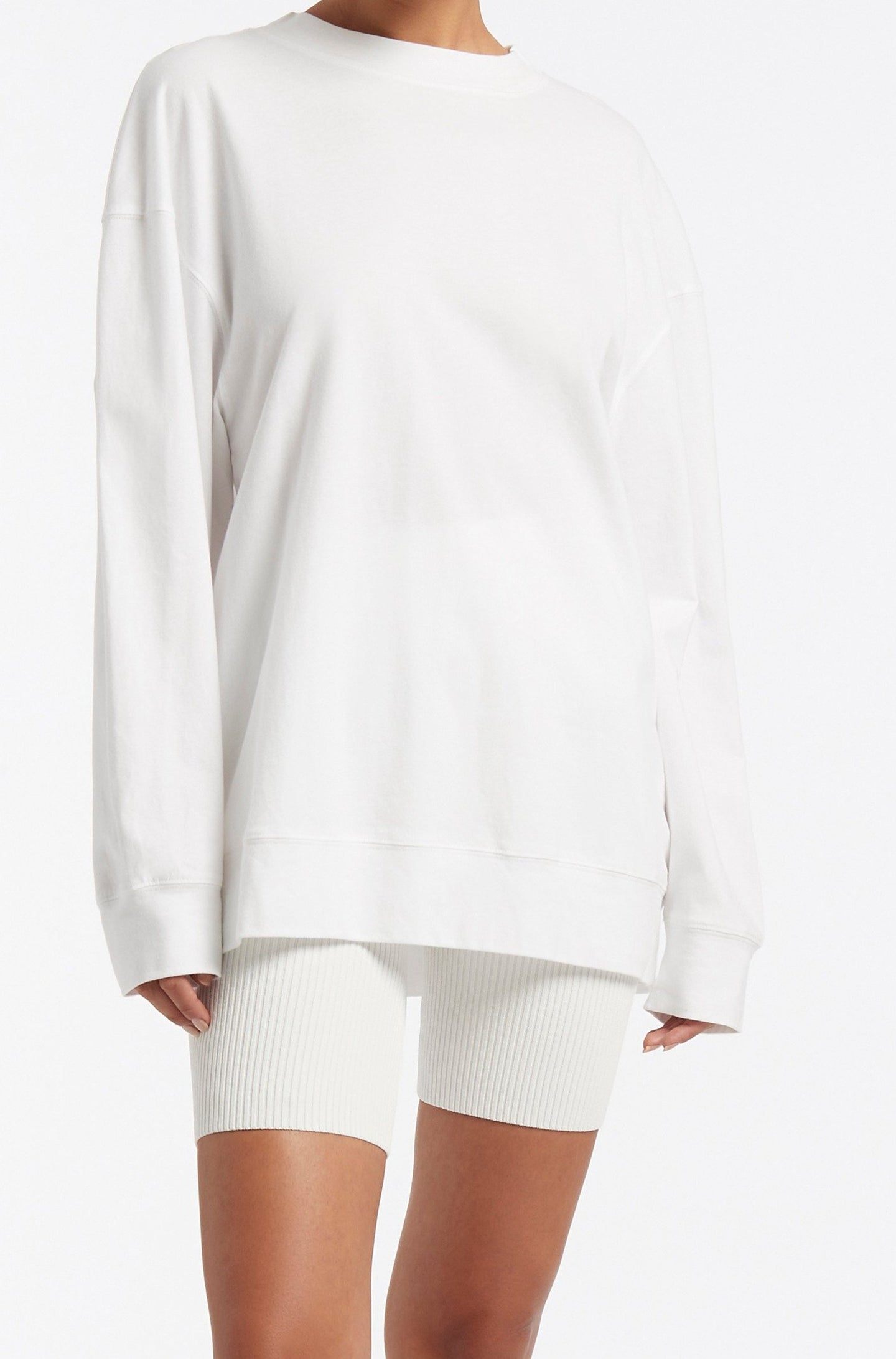 SIR the label LEONE LONG SLEEVE TEE IVORY