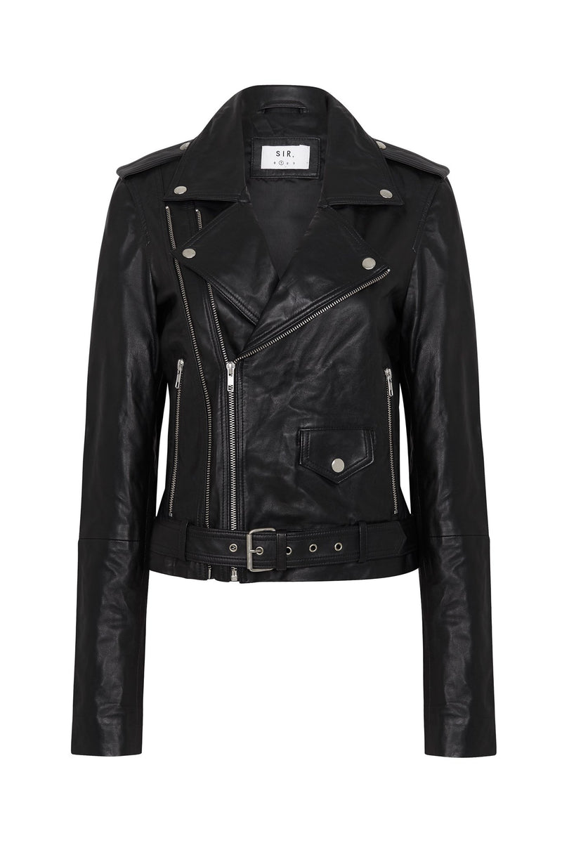 JEROME BELTED LEATHER JACKET