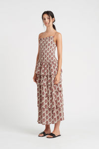 FLORÉ ONE SHOULDER MAXI DRESS