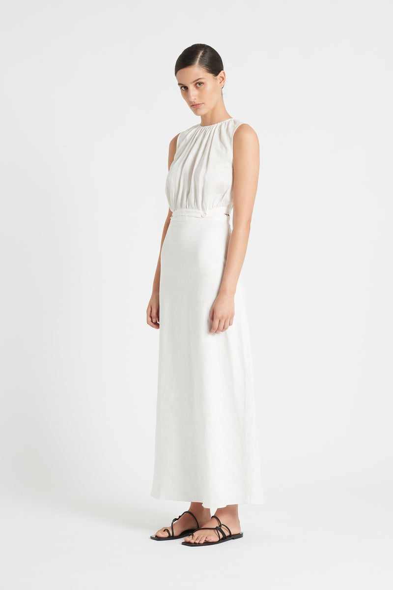 SIR the label AMBROISE GATHERED DRESS IVORY