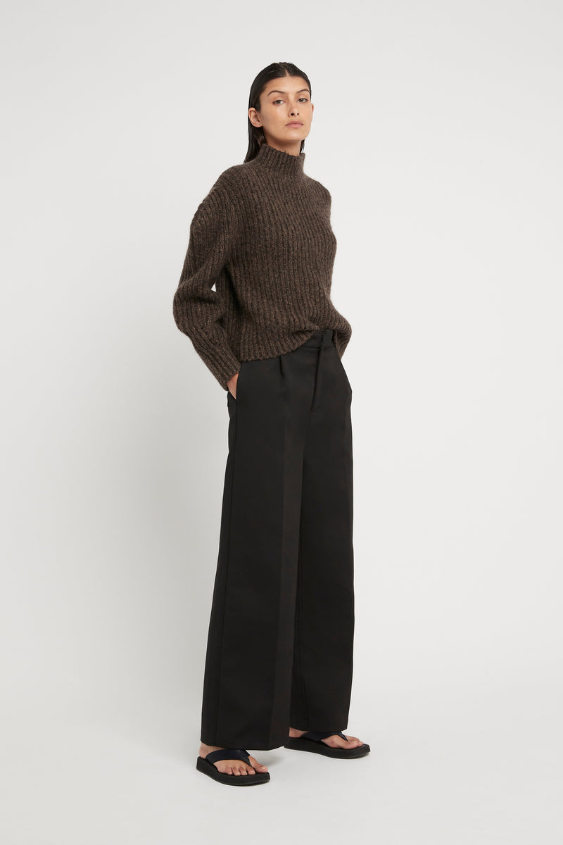 SIR the label MATTI TUCK SLEEVE SWEATER TIMBER