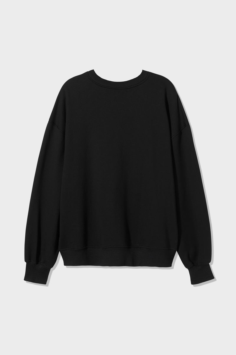 SIR the label UNISEX CREW NECK SWEATER BLACK