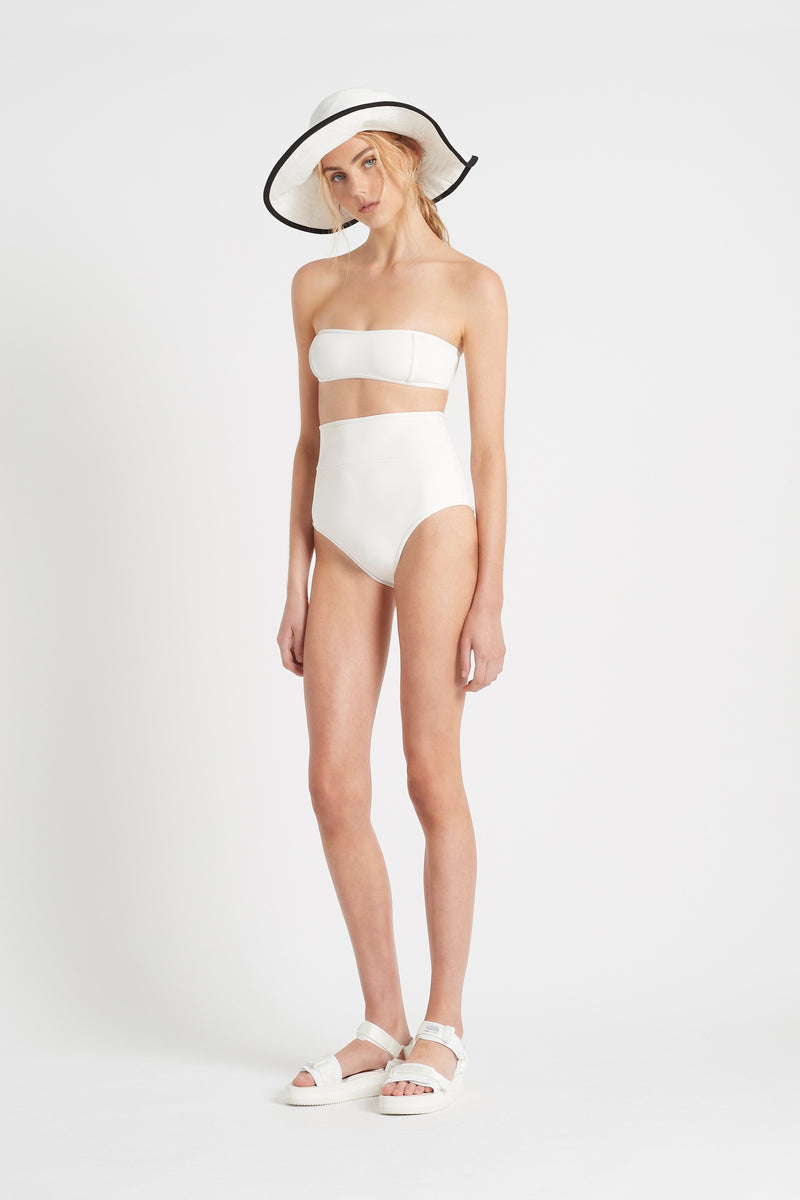 SIR the label LOUIS PANELLED BANDEAU IVORY