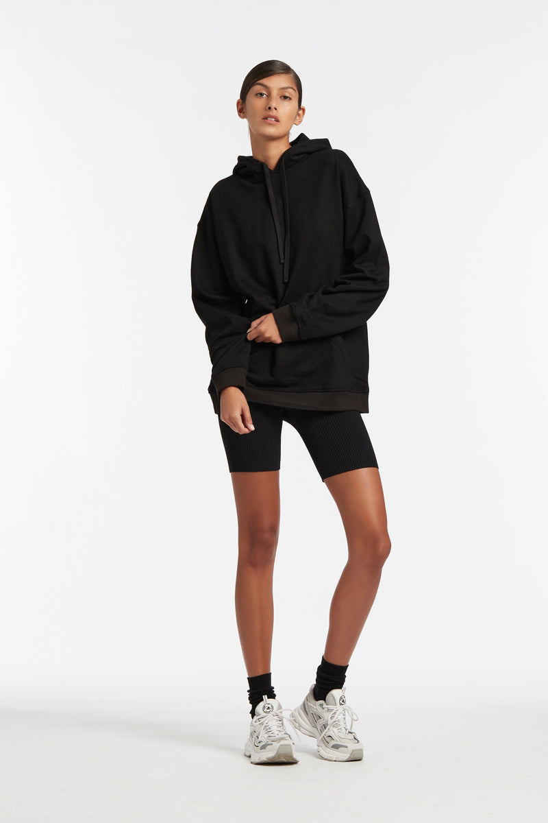SIR the label OVERSIZED HOODIE BLACK