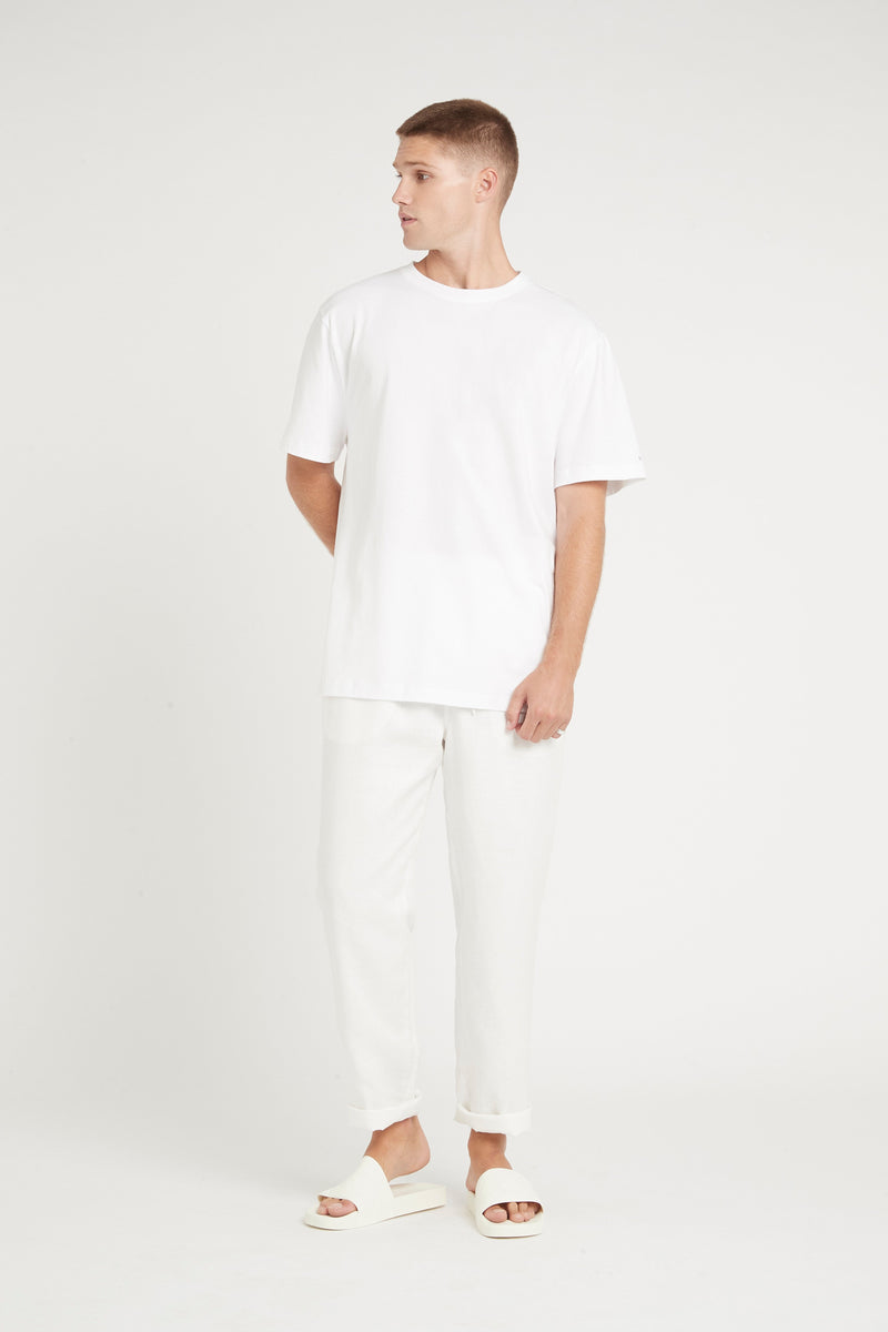 SIR the label FRANCES MENS DRAWSTRING PANT IVORY