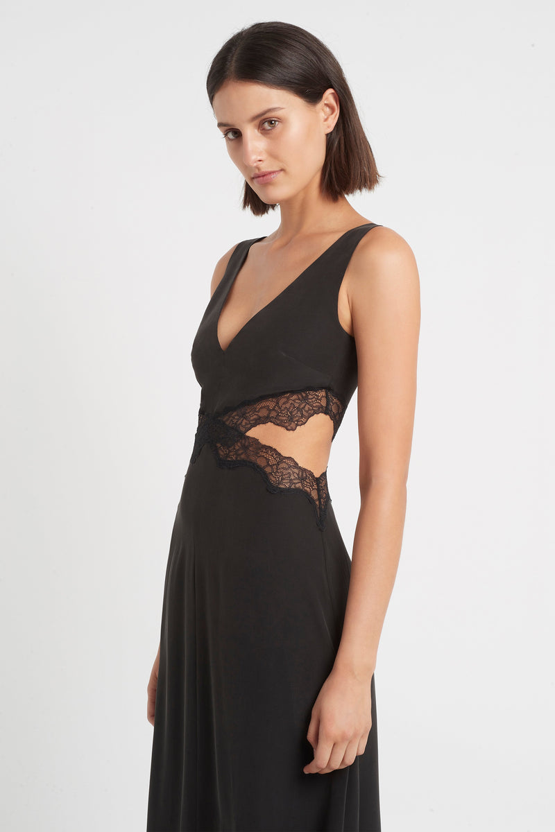 SIR the label ALMA CUT OUT DRESS BLACK