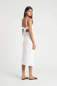 JAC TIE BACK MIDI DRESS