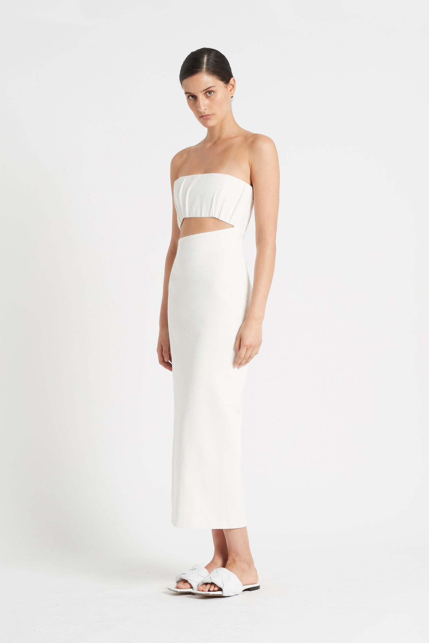 SIR the label YVES STRAPLESS DRESS IVORY