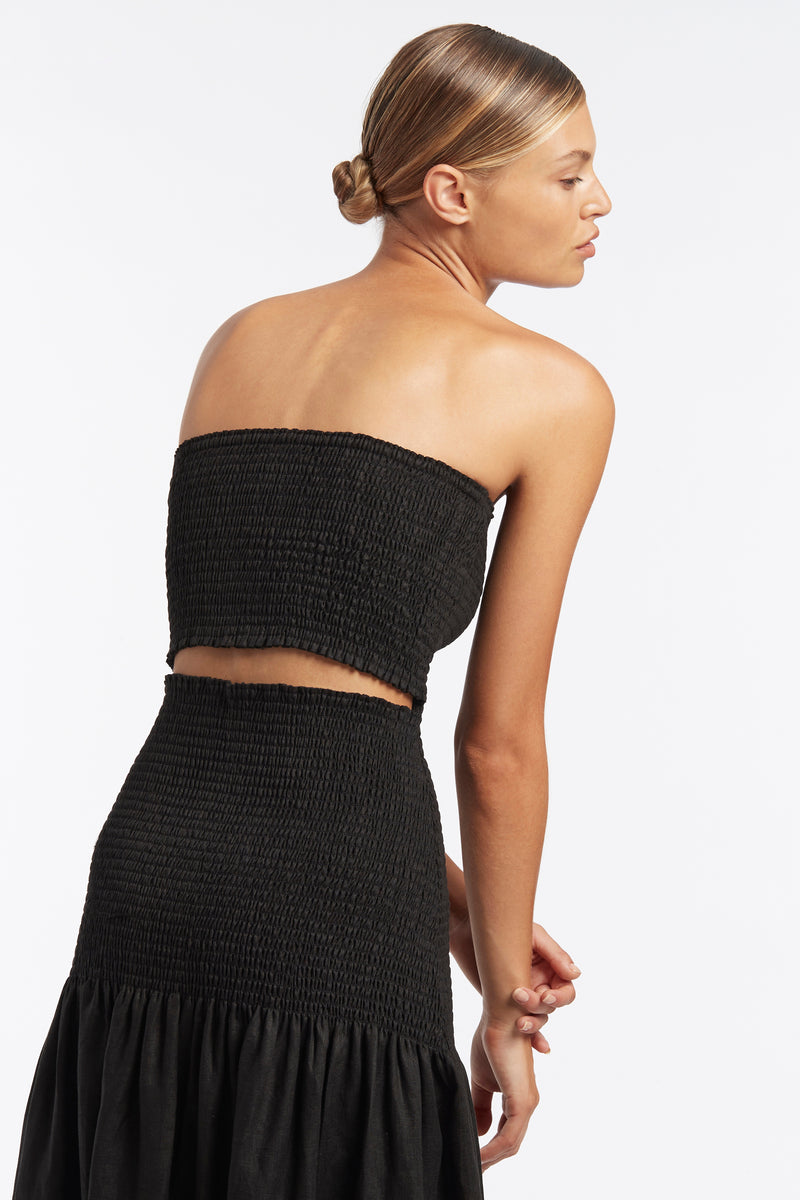 SIR the label MADELYN STRAPLESS DRESS BLACK