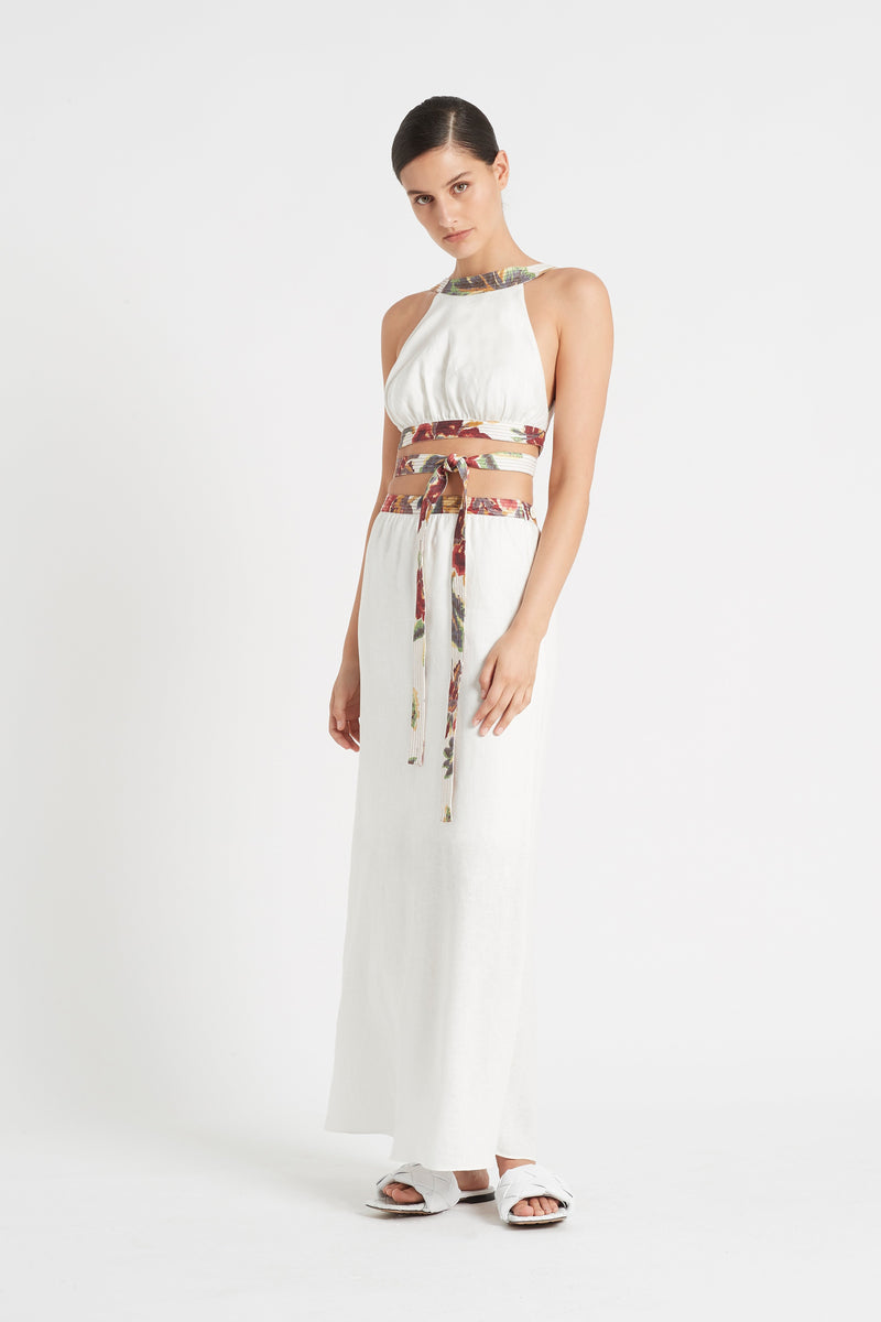 SIR the label AMBROISE OPEN BACK GOWN AMBROISE PRINT
