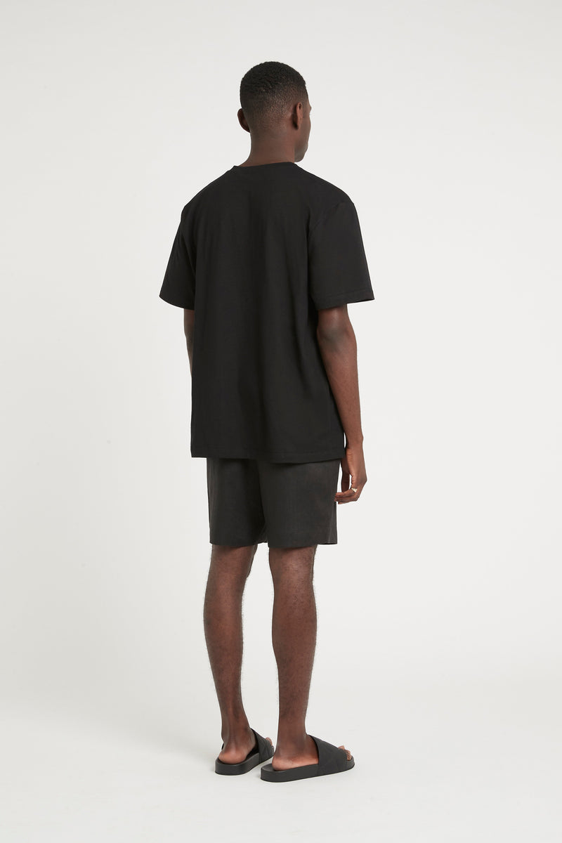 SIR the label FRANCES MENS DRAWSTRING SHORT BLACK