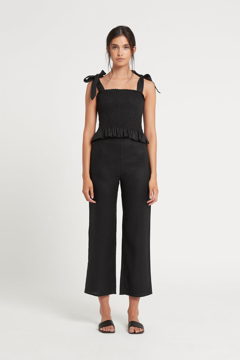 SIR the label EMILE RUCHED TOP BLACK