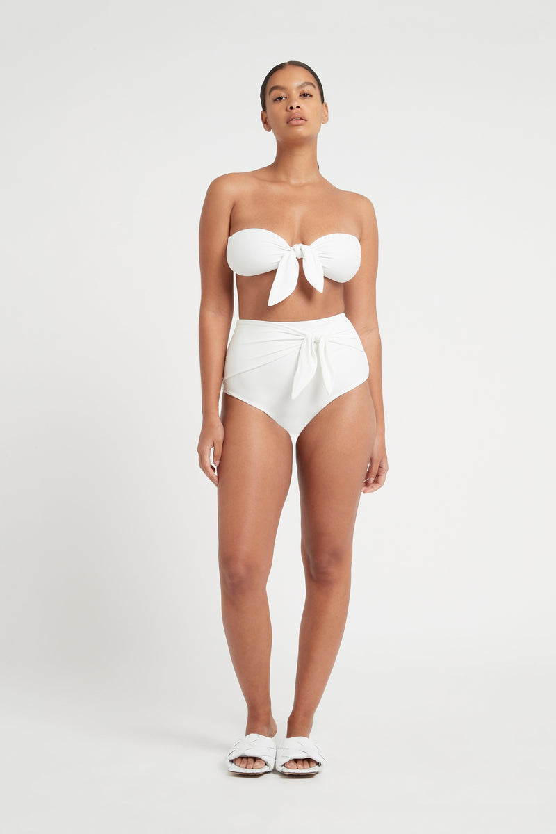SIR the label LOUIS TIE HIGH WAISTED BRIEF IVORY