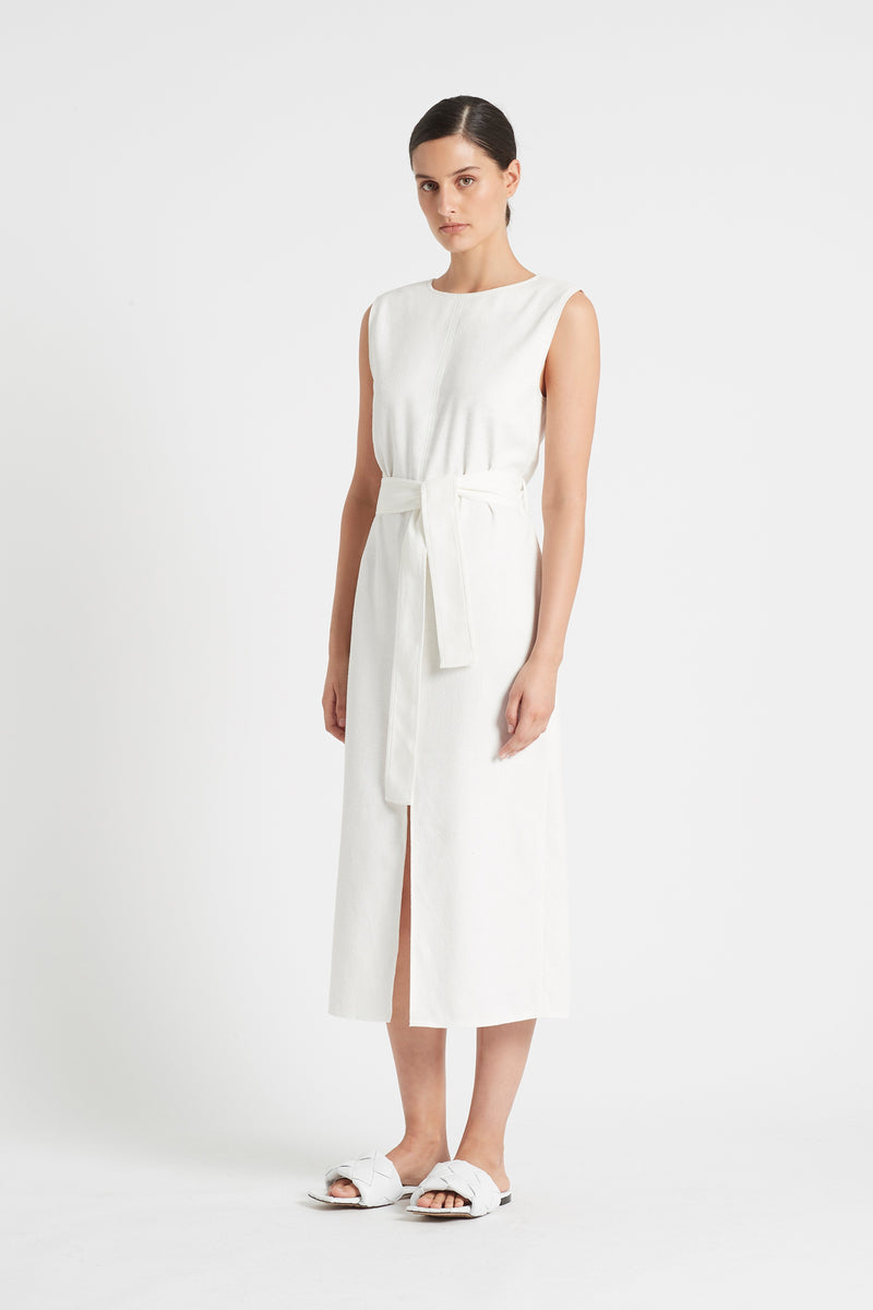 SIR the label YVES MIDI DRESS IVORY