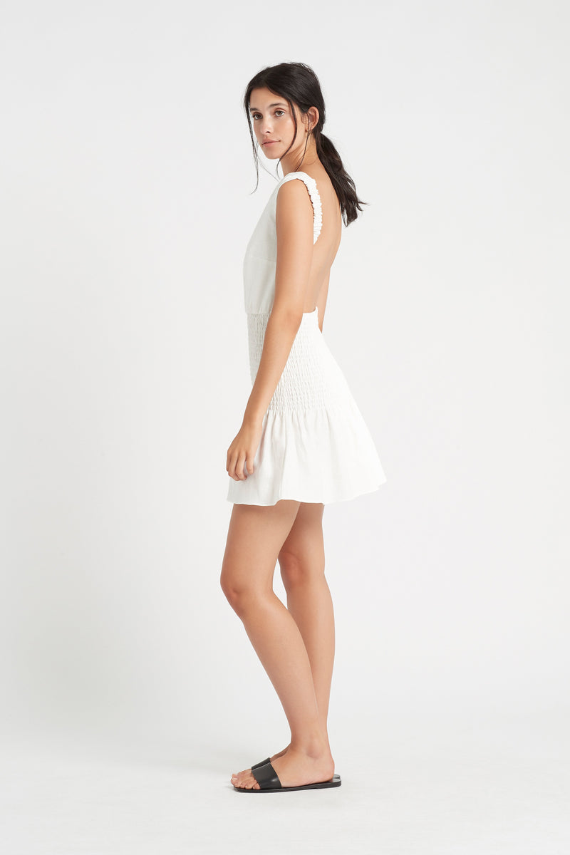 LORENA OPEN BACK MINI DRESS