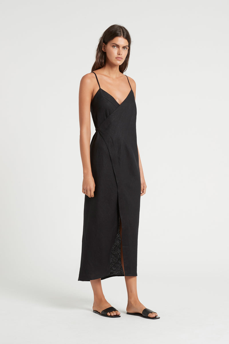 SIR the label ANOUK WRAP DRESS BLACK