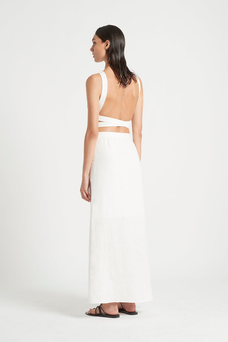 SIR the label AMBROISE OPEN BACK GOWN IVORY