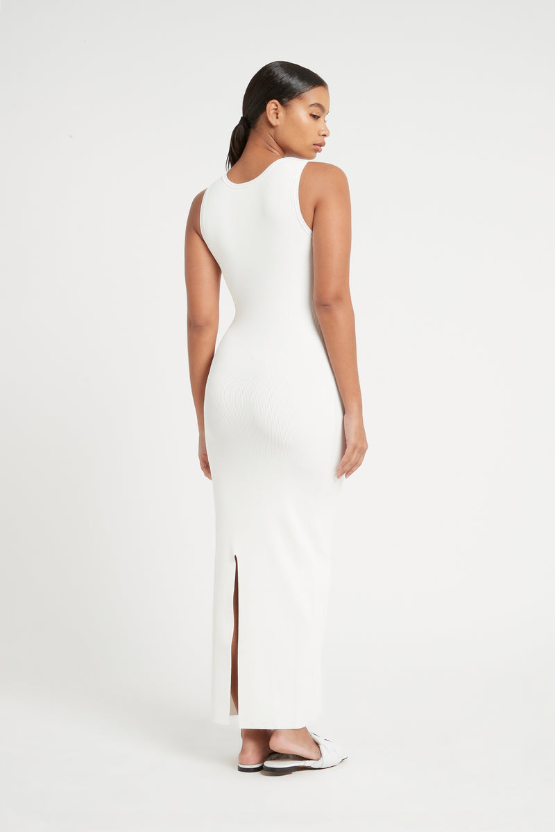 SIR the label INGRID CUT OUT MIDI DRESS IVORY