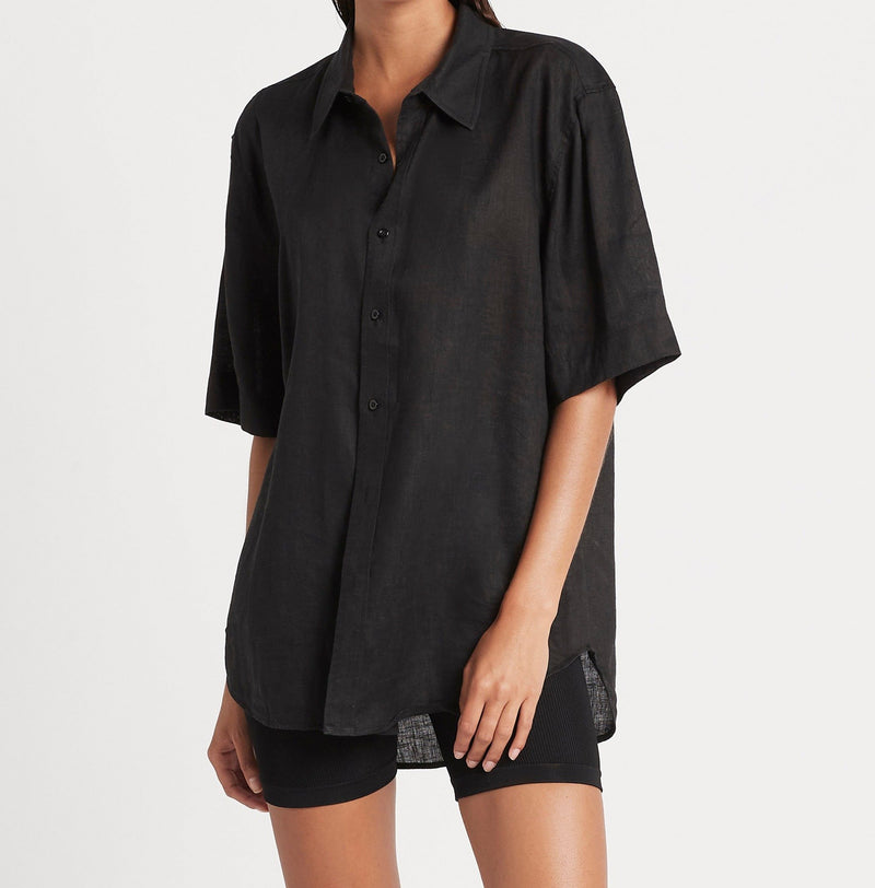 SIR the label FRANCES SHORT SLEEVE SHIRT BLACK