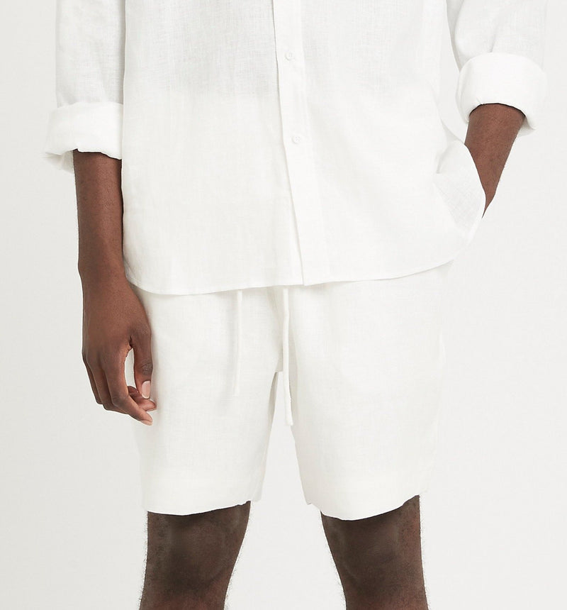 SIR the label FRANCES MENS DRAWSTRING SHORT IVORY