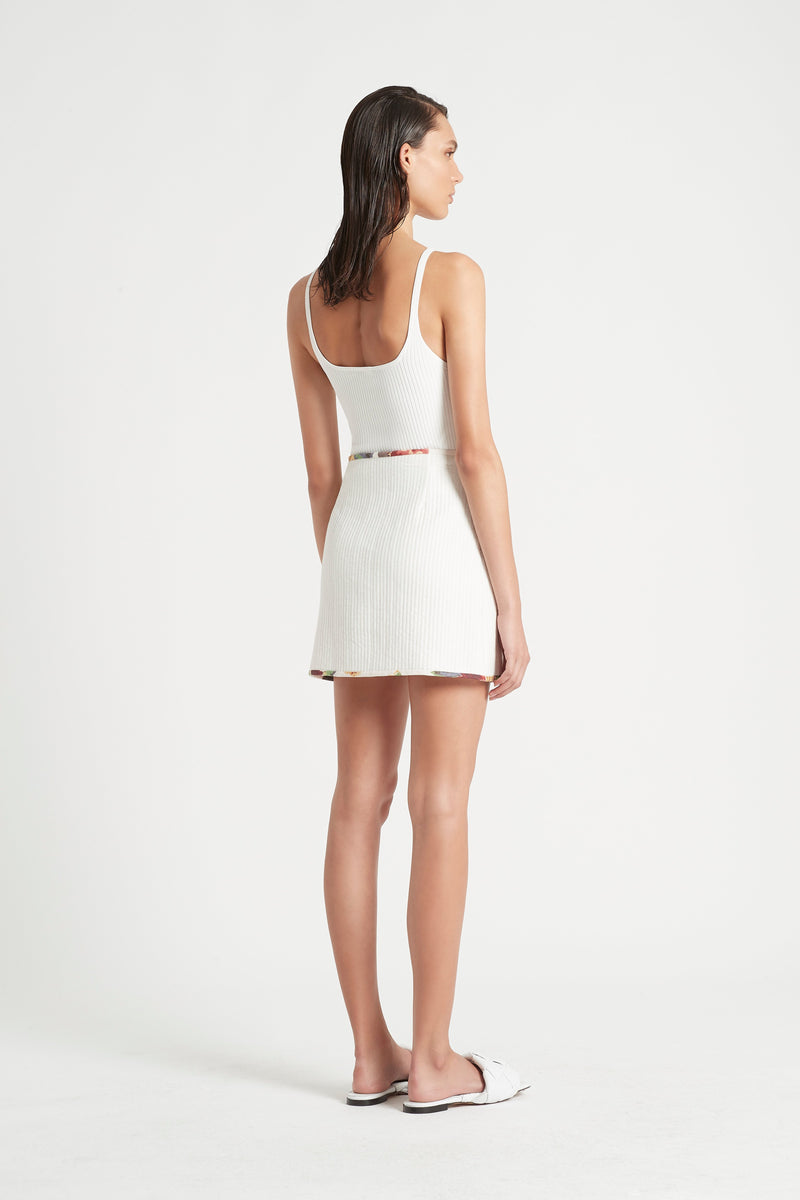 SIR the label AGNES RIBBED TANK IVORY