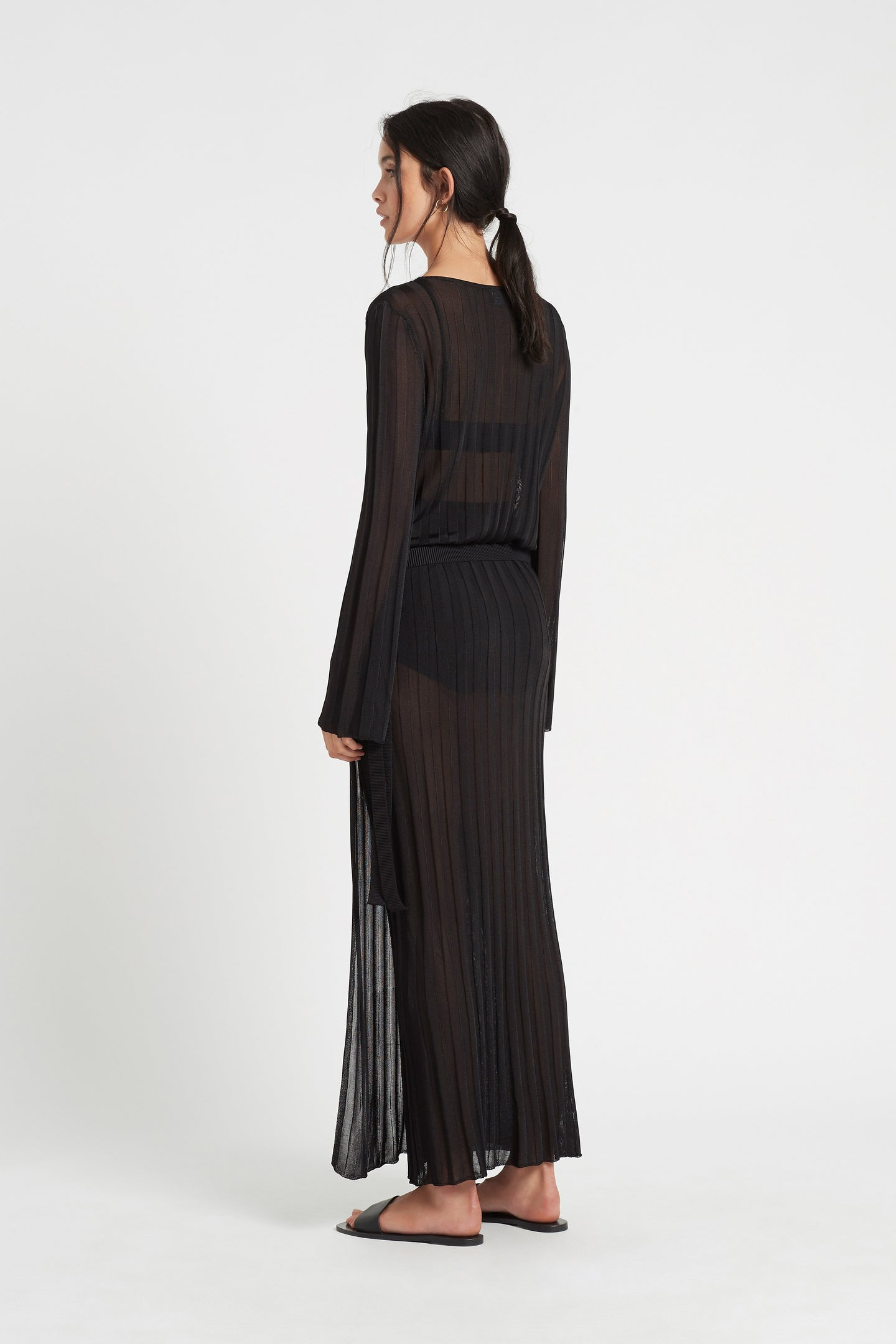 SIR the label VERA WRAP MIDI DRESS BLACK